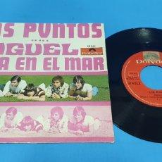 Discos de vinilo: DISCO DE VINILO SINGLE LOS PUNTOS. MIGUEL , ALLÁ EN EL MAR . POLYDOR 1969. RARO. Lote 201741035