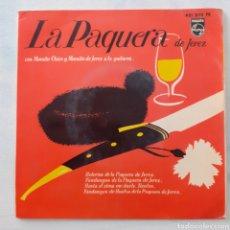 Discos de vinilo: LA PAQUERA DE JEREZ. BULERÍAS DE LA PAQUERA DE JEREZ. PHILIPS 421 202 PE. 1965. FUNDA VG. DISCO VG+.. Lote 201751783