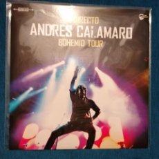 Discos de vinilo: MINI LP ANDRÉS CALAMARO EN DIRECTO BOHEMIO TOUR LTD . Lote 201754856