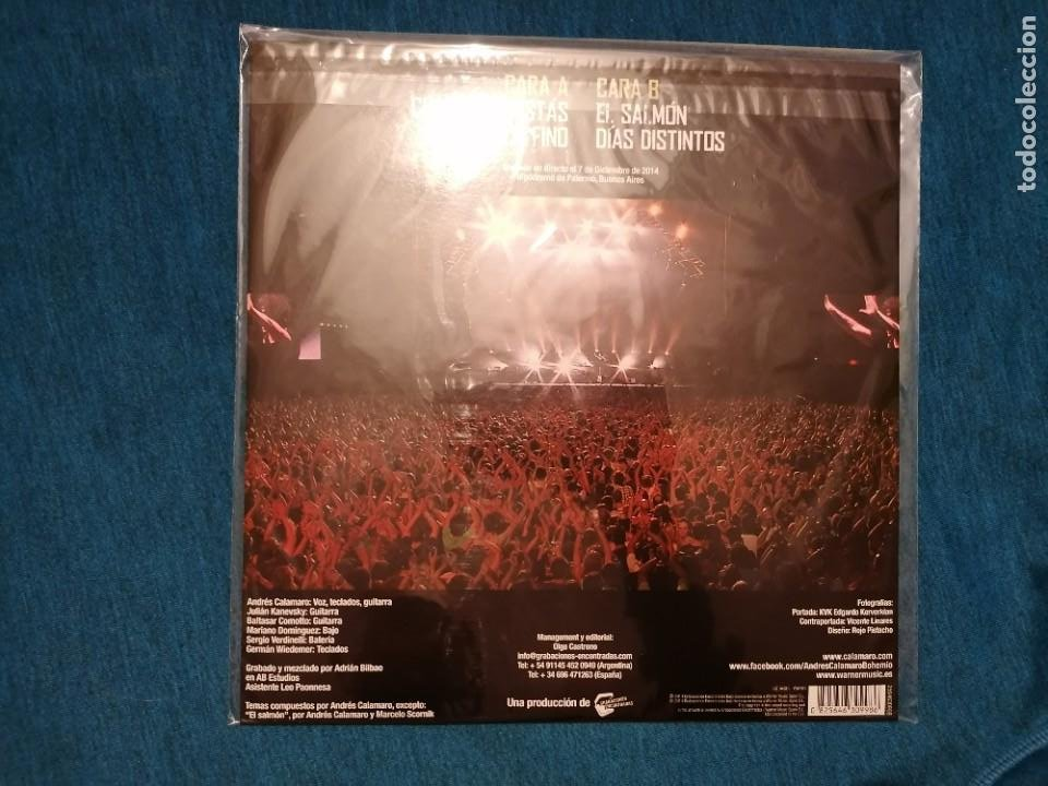 Discos de vinilo: OFERTA FLASH MINI LP ANDRÉS CALAMARO EN DIRECTO BOHEMIO TOUR LTD - Foto 2 - 201754856