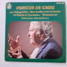 Discos de vinilo: PERICON DE CÁDIZ. LOS PELEGRINITOS... HISPAVOX HH 16787. 1971. FUNDA VG++. DISCO VG++.. Lote 201765387