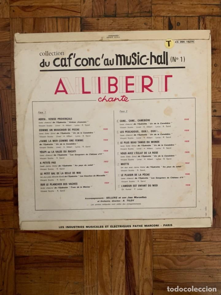 Discos de vinilo: Alibert Chante Sello: Pathé – 2C 054 - 15.275 Serie: Du Caf Conc Au Music Hall – N° 1 + - Foto 2 - 201769163