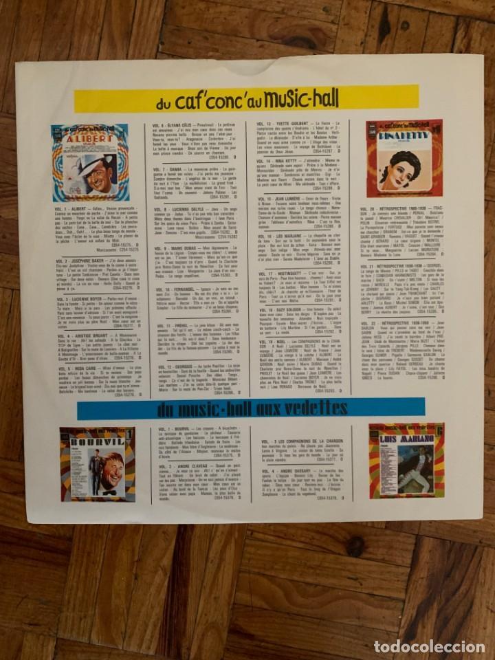 Discos de vinilo: Alibert Chante Sello: Pathé – 2C 054 - 15.275 Serie: Du Caf Conc Au Music Hall – N° 1 + - Foto 4 - 201769163