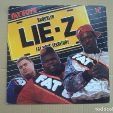 Discos de vinilo: FAT BOYS, BROOKLYN LIE-Z. MAXI-SINGLE EDICION ALEMANA 1989 TIN PAN APPLE. Lote 201770211