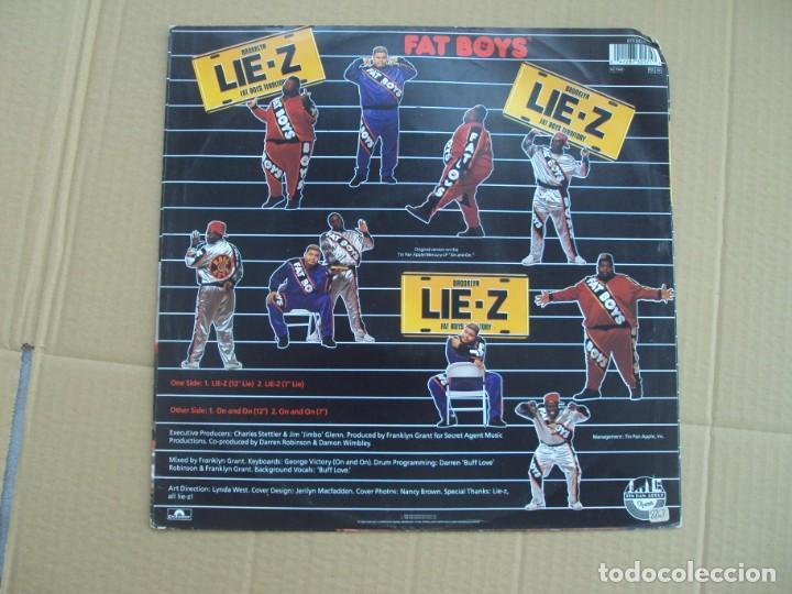 Discos de vinilo: FAT BOYS, BROOKLYN LIE-Z. MAXI-SINGLE EDICION ALEMANA 1989 TIN PAN APPLE - Foto 2 - 201770211