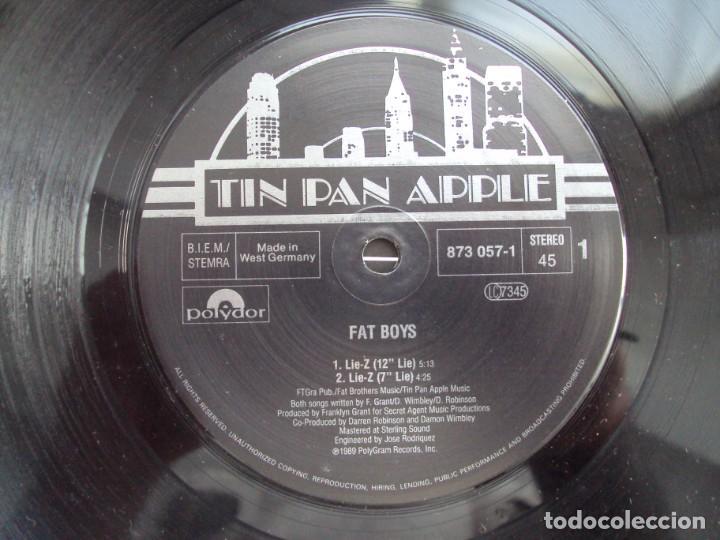 Discos de vinilo: FAT BOYS, BROOKLYN LIE-Z. MAXI-SINGLE EDICION ALEMANA 1989 TIN PAN APPLE - Foto 5 - 201770211