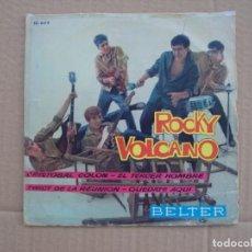Discos de vinilo: ROCKY VOLCANO Y SUS VOLCANO TWISTERS, EP EDICION ESPAÑOLA 1962 BELTER. Lote 201773998
