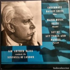 Discos de vinilo: SIR ARTHUR BLISS/THE SINFONIA OF LONDON: CHECKMATE BALLET SUITE . LP VINILO . Lote 201784733