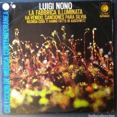 Discos de vinilo: LUIGI NONO - LA FABBRICA ILLUMINATA - LP VINILO -VINYL LP 1971. Lote 201787247