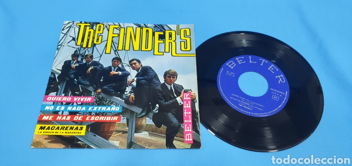 DISCO DE VINILO SINGLE THE FINDER'S . QUIERO VIVIR. BELTER. 1965 (Música - Discos - Singles Vinilo - Solistas Españoles de los 50 y 60)