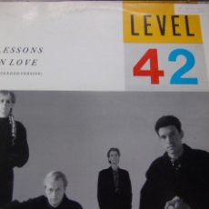 Discos de vinilo: LEVEL 42- LESSONS IN LOVE (EXTENDED VERSION) POLYDOR 1986. Lote 201808731