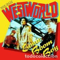 Dischi in vinile: WESTWORLD - SONIC BOOM BOY - 12 SINGLE AÑO 1987. Lote 201818241