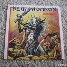 Discos de vinilo: LP THRASH METAL. NECRONOMICON. ESCALATION. BUENA CONSERVACION. Lote 201823246