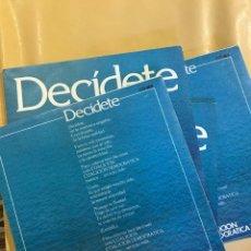 Discos de vinilo: DECÍDETE COLACIÓN DEMOCRÁTICA CUATRO SINGLES. Lote 201824236