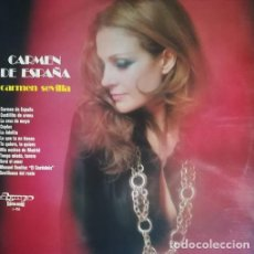 Discos de vinilo: CARMEN SEVILLA - CARMEN DE ESPAÑA - LP VINILO OLYMPO 1973 #. Lote 201826447