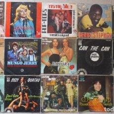 Discos de vinilo: LOTE DE 15 SINGLE VARIADOS AÑOS 70 EXTRANJEROS. Lote 201835012