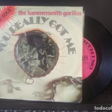 Discos de vinilo: THE HAMMERSMITH GORILLAS YOU REALLY GOT ME SINGLE SPAIN 1977 PDELUXE. Lote 201839843