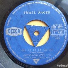 Discos de vinilo: EP SMALL FACES - SHA-LA-LA-LA-LEE * VINILO INSERVIBLE. Lote 201839900