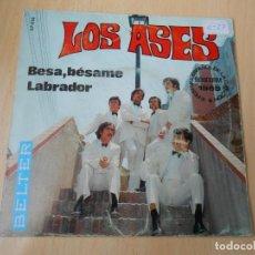 Discos de vinilo: ASES, LOS - FESTIVAL DE BENIDORM 1969 -, SG, BESA, BÉSAME + 1, AÑO 1969. Lote 201840501