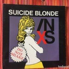 Discos de vinilo: INXS: SUICIDE BLONDE. Lote 201843770
