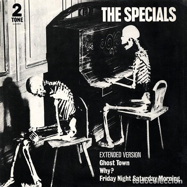 MAXI 3 TRACK ESPECIAL COLECCIONISTAS-THE SPECIALS - GHOST TOWN -ORIGINAL ANALÓGICO U.K. 1981 (Música - Discos de Vinilo - Maxi Singles - Reggae - Ska)