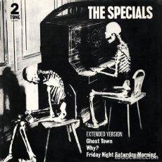 Discos de vinilo: MAXI 3 TRACK ESPECIAL COLECCIONISTAS-THE SPECIALS - GHOST TOWN -ORIGINAL U.K. 1981. Lote 201855952