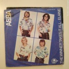 Dischi in vinile: NT ABBA - THE WINNER TAKES IT ALL 1980 SPAIN SINGLE VINILO. Lote 201858097