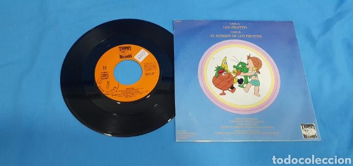 Discos de vinilo: Disco de vinilo single promocional los fruittis. Serie t.v. 1990 - Foto 2 - 201859217
