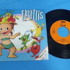Discos de vinilo: DISCO DE VINILO SINGLE PROMOCIONAL LOS FRUITTIS. SERIE T.V. 1990. Lote 201859217