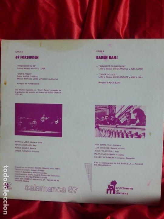 Discos de vinilo: 69 FORBIDDEN + BADEN BAH-PROHIBIDO EL 69 + DONT PANIC + AMANECE EN BANGKOK + DIOSA DEL SOL MAXI - Foto 2 - 201893073