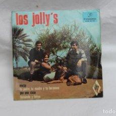 Discos de vinilo: LOS JOLLY´S SINGLE, MIRZA / TU PADRE, TU MADRE Y TU HERMANA / POR UNA COSA,, COLUMBIA. Lote 201902567