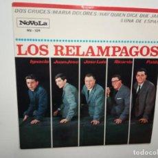 Discos de vinilo: LOS RELAMPAGOS- DOS CRUCES- EP 1965 - EXCELENTE ESTADO.. Lote 201906078