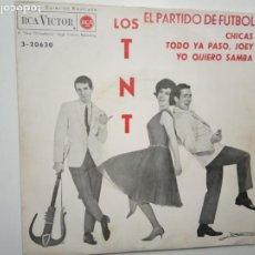Discos de vinilo: LOS TNT- EL PARTIDO DE FUTBOL - EP 1963.. Lote 201907972