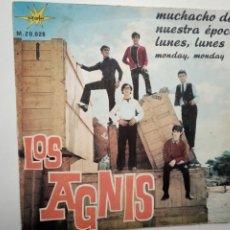 Discos de vinilo: LOS AGNIS- MUCHACHO DE NUESTRA EPOCA- SINGLE 1966.. Lote 201908926