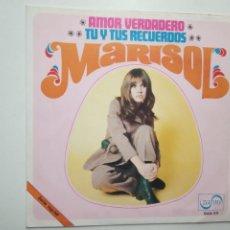 Discos de vinilo: MARISOL- AMOR VERDADERO - SINGLE 1969.. Lote 201909165