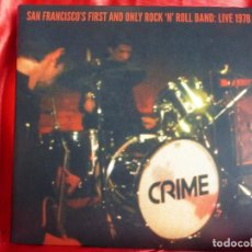 Discos de vinilo: CRIME – SAN FRANCISCO'S FIRST AND ONLY ROCK 'N' ROLL BAND: LIVE 1978. 2 × VINYL, 7, 45 RPM, LIMITED.. Lote 201912516