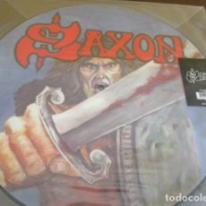 Discos de vinilo: SAXON - PICTURE DISC - BACK ON BLACK - LIMITADO A 2000 COPIAS. Lote 201956387