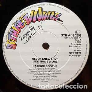 PATRICK BOOTHE - NEVER KNEW LOVE LIKE THIS BEFORE - 12 SINGLE- AÑO 1982 (Música - Discos de Vinilo - Maxi Singles - Jazz, Jazz-Rock, Blues y R&B)