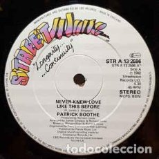 Discos de vinilo: PATRICK BOOTHE - NEVER KNEW LOVE LIKE THIS BEFORE - 12 SINGLE- AÑO 1982. Lote 201956675