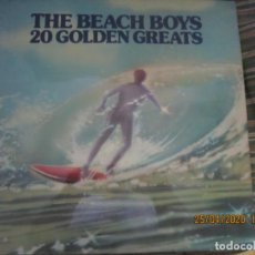 Discos de vinilo: THE BEACH BOYS - 20 GOLDEN GREATS LP - EDICION INGLESA - EMI RECORDS 1977 - STEREO -. Lote 201986211