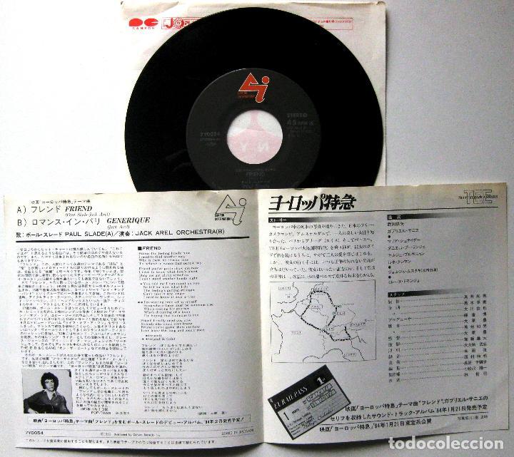 Discos de vinilo: Paul Slade - Friend (Trans Europe Express) - Single Canyon International 1983 Japan BPY - Foto 3 - 202003670