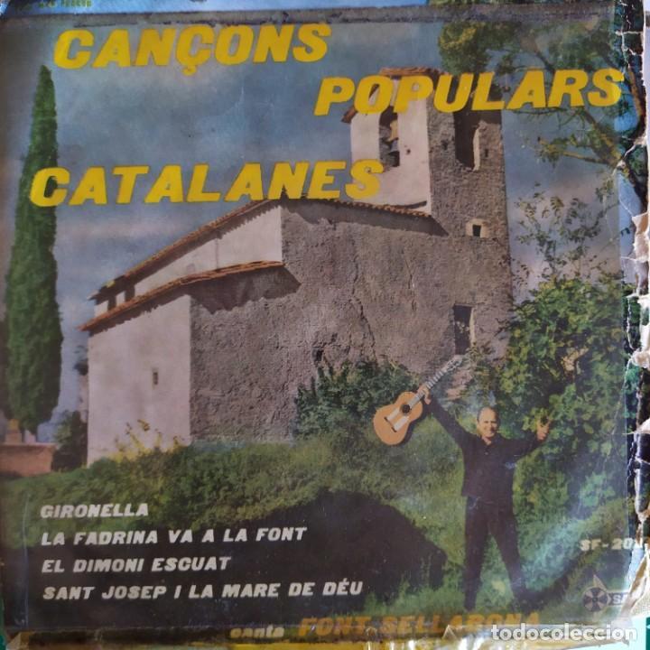 FONT SELLABONA: GIRONELLA, LA FADRINA VA A LA FONT + 2 SAEF SPAIN 1958 VINILO AMARILLO (Música - Discos de Vinilo - EPs - Solistas Españoles de los 50 y 60)
