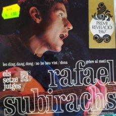 Discos de vinilo: RAFAEL SUBIRACHS: LES DING DANG DONG, DONA +2 CONCENTRIC 1967 ELS 16 JUTGES, ARR F BURRULL. Lote 202012615
