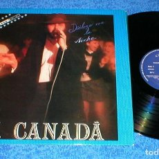 Discos de vinilo: J.CANADA SPAIN LP 1986 DIALOGO CON LA NOCHE ELECTRONIC POP ITALO DISCO EURO DANCE JUSTINE RECORDS. Lote 202013452