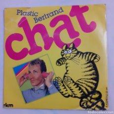 Discos de vinilo: PLASTIC BERTRAND. CHAT. ROM 761.659. 1983, FRANCIA. FUNDA VG+. DISCO VG++.. Lote 202014586