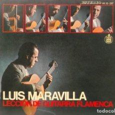 Disques de vinyle: LUIS MARAVILLA-LECCION DE GUITARRA FLAMENCA-ORIGINAL AÑO 1967-CON AMPLIO LIBRETO DE MUCHAS PAGINAS. Lote 202017598