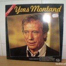 Discos de vinilo: YVES MONTAND LP MFP FRANCE ( UNA CARA EN DIRECTO,LA OTRA EN ESTUDIO ). Lote 202029577