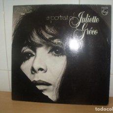 Discos de vinilo: JULIETTE GRECO LP PHILIPS ED. HOLANDESA A PORTRAIT OF JULIETTE GRECO. Lote 202031393