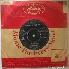 Disques de vinyle: LEROY VAN DYKE. WALK ON BY/ MY WORLD IS CAVING IN. MERCURY, UK 1961 SINGLE. Lote 202036467