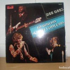 Discos de vinilo: BEE GEES LP POLYDOR FRANCE TO WHOM IT MAY CONCERN. Lote 202070703